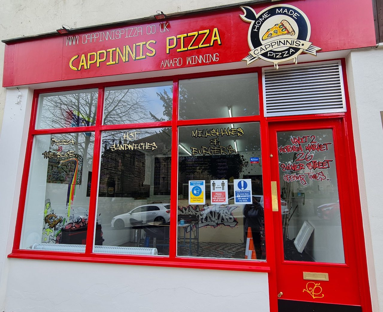 Cappinnis Pizza - our new shop on Silver Street, Dursley.